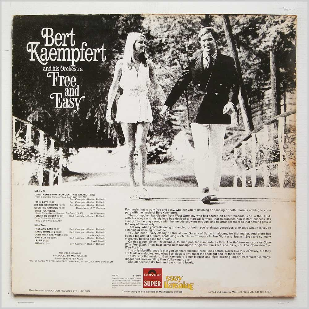 Bert Kaempfert and His Orchestra - Free And Easy (2310 045)