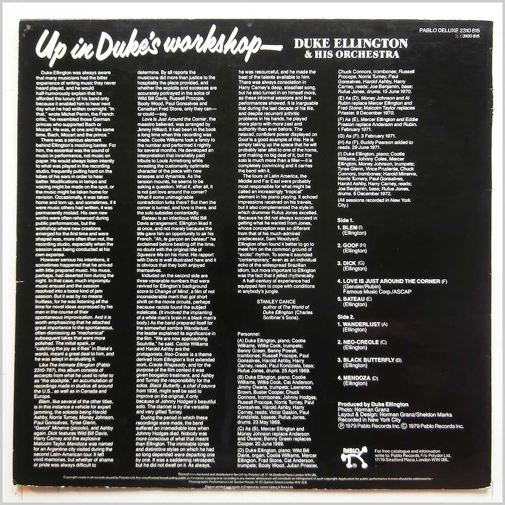 Duke Ellington and His Orchestra - Up In Duke's Workshop (2310 815)
