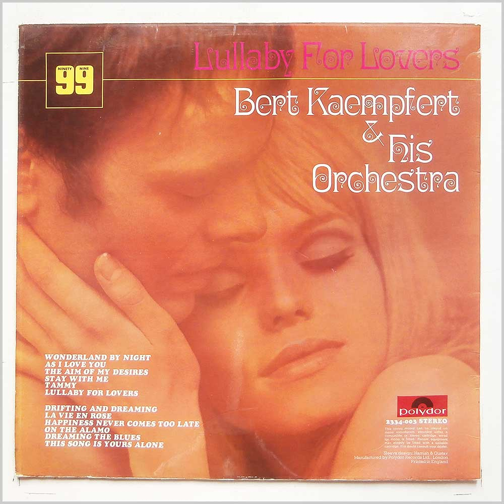 Bert Kaempfert and His Orchestra - Lullaby For Lovers (2334-003)