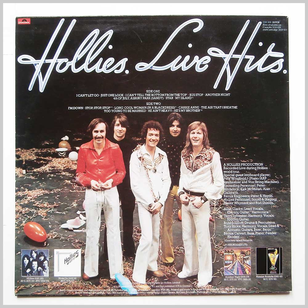 The Hollies - Hollies Live Hits (2383 428)