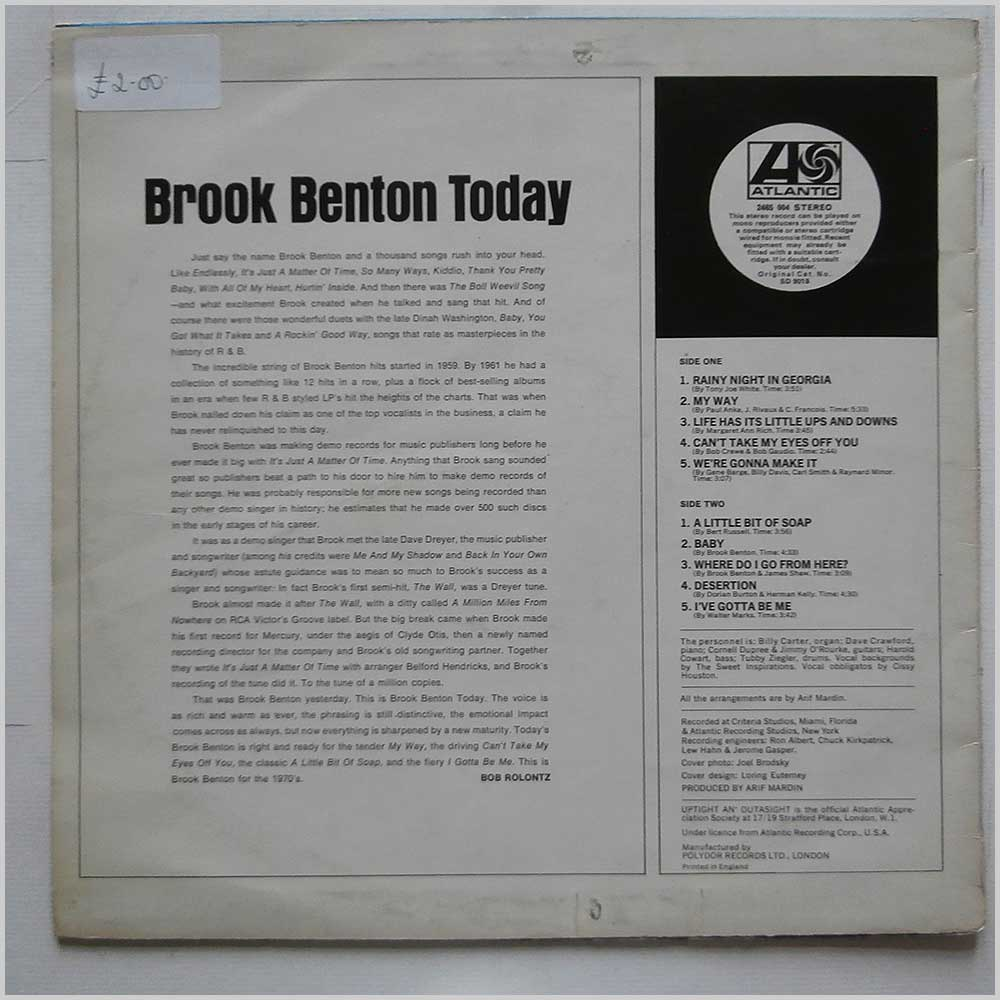 Brook Benton - Brook Benton Today (2465 004)