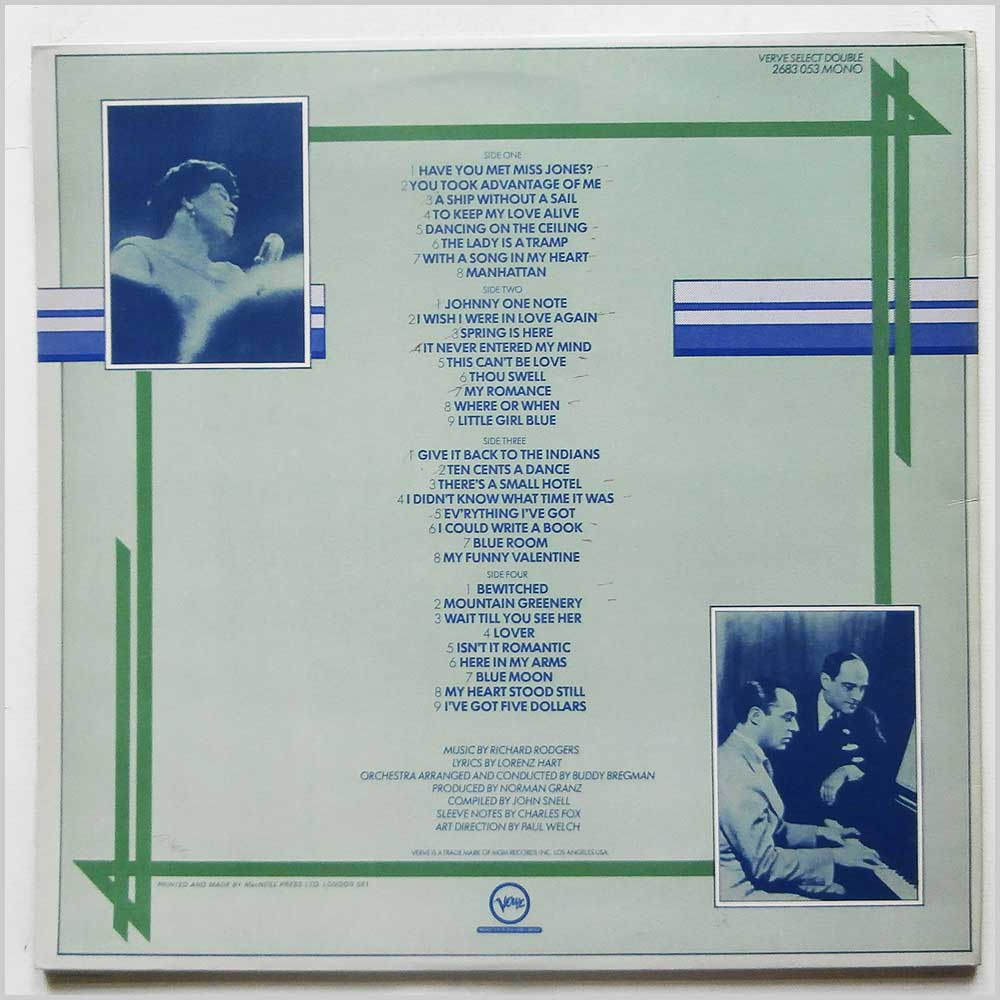 Ella Fitzgerald - Ella Fitzgerald Sings The Rogers and Hart Songbook (2683 053)