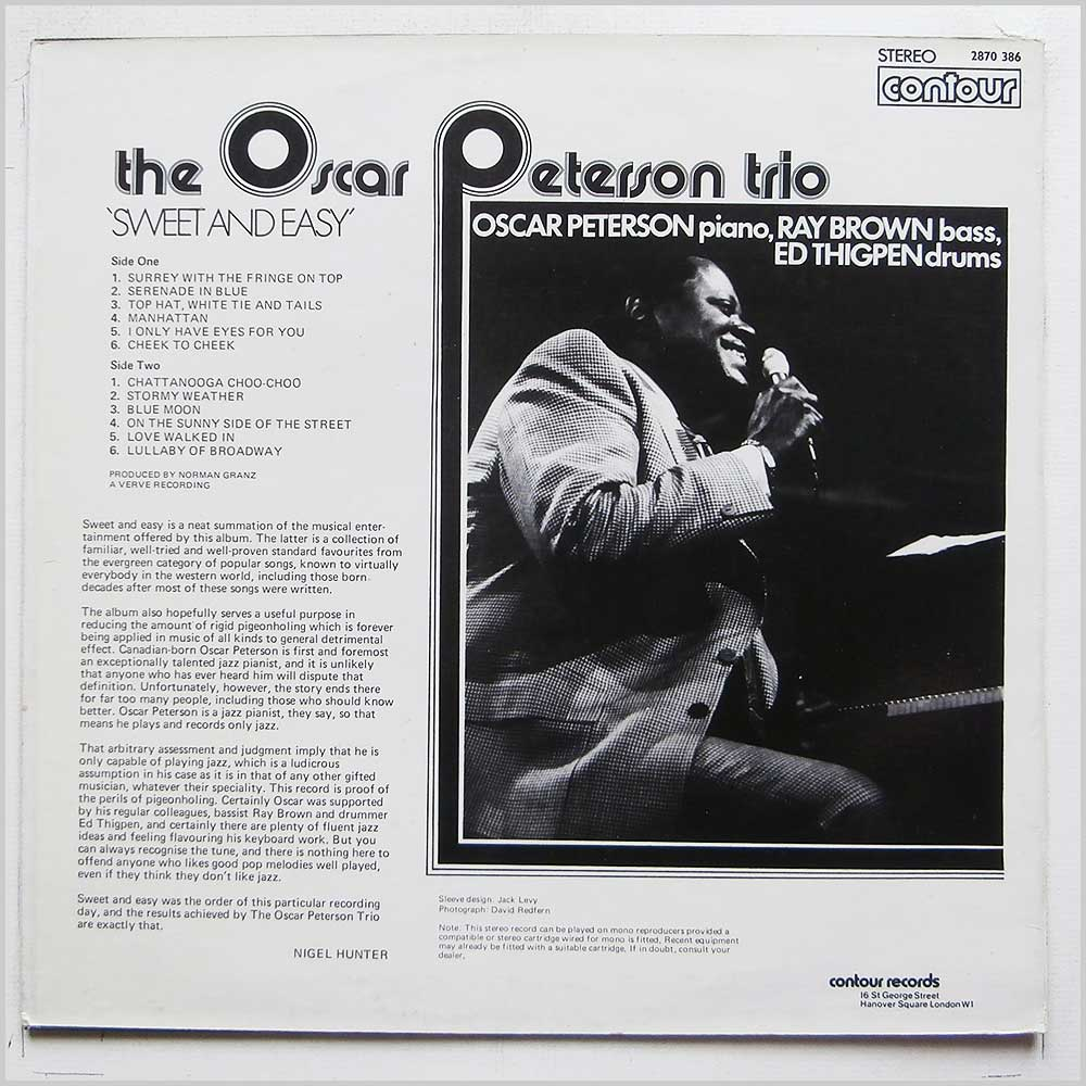 Oscar Peterson Trio - Sweet And Easy (2870 386)