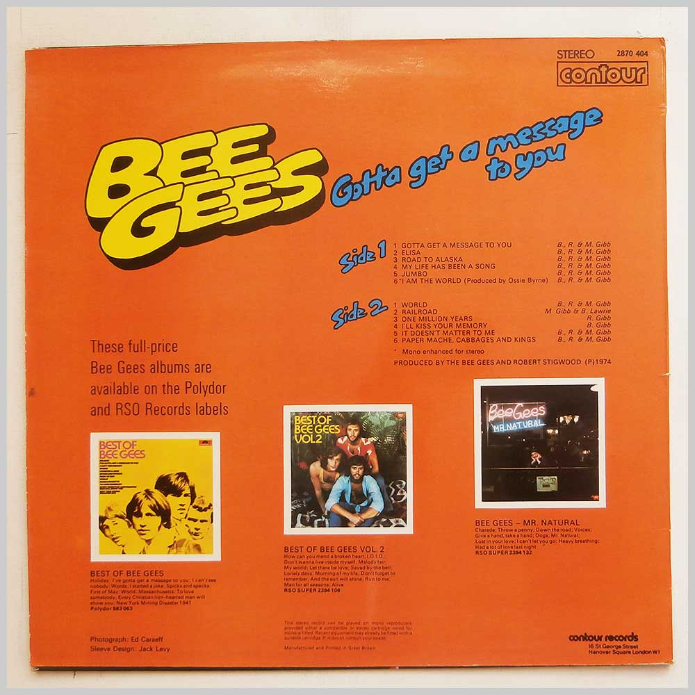 Bee Gees - Gotta Get A Message To You (2870 404)