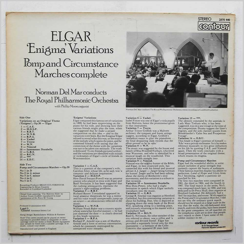 Norman Del Mar, The Royal Philharmonic Orchestra - Elgar: Enigma Variations, Pomp and Circumstance Marches Complete (2870 440)