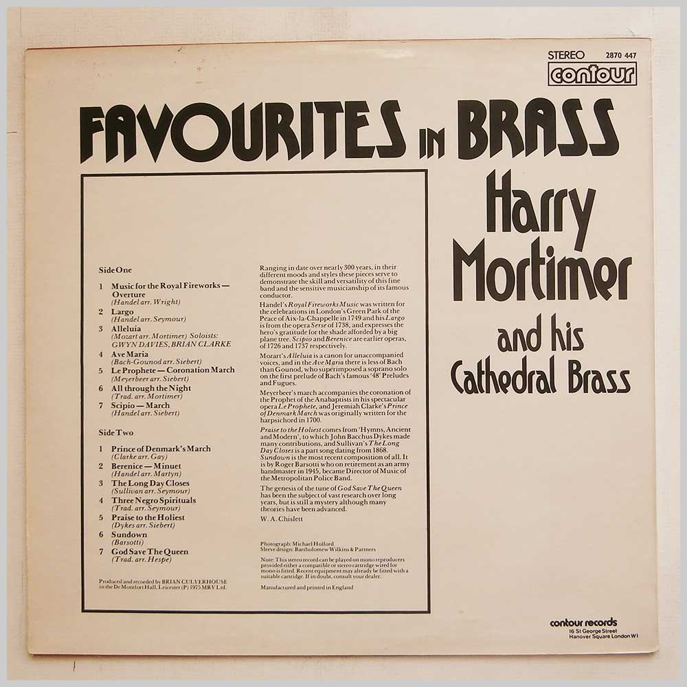Harry Mortimer and His Cathedral Brass - Favourites In Brass (2870 447)