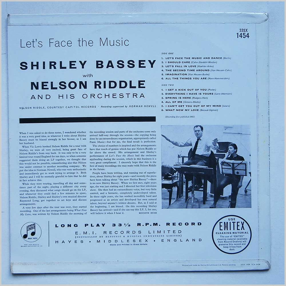 Shirley Bassey - Let's Face The Music (33SX 1454)