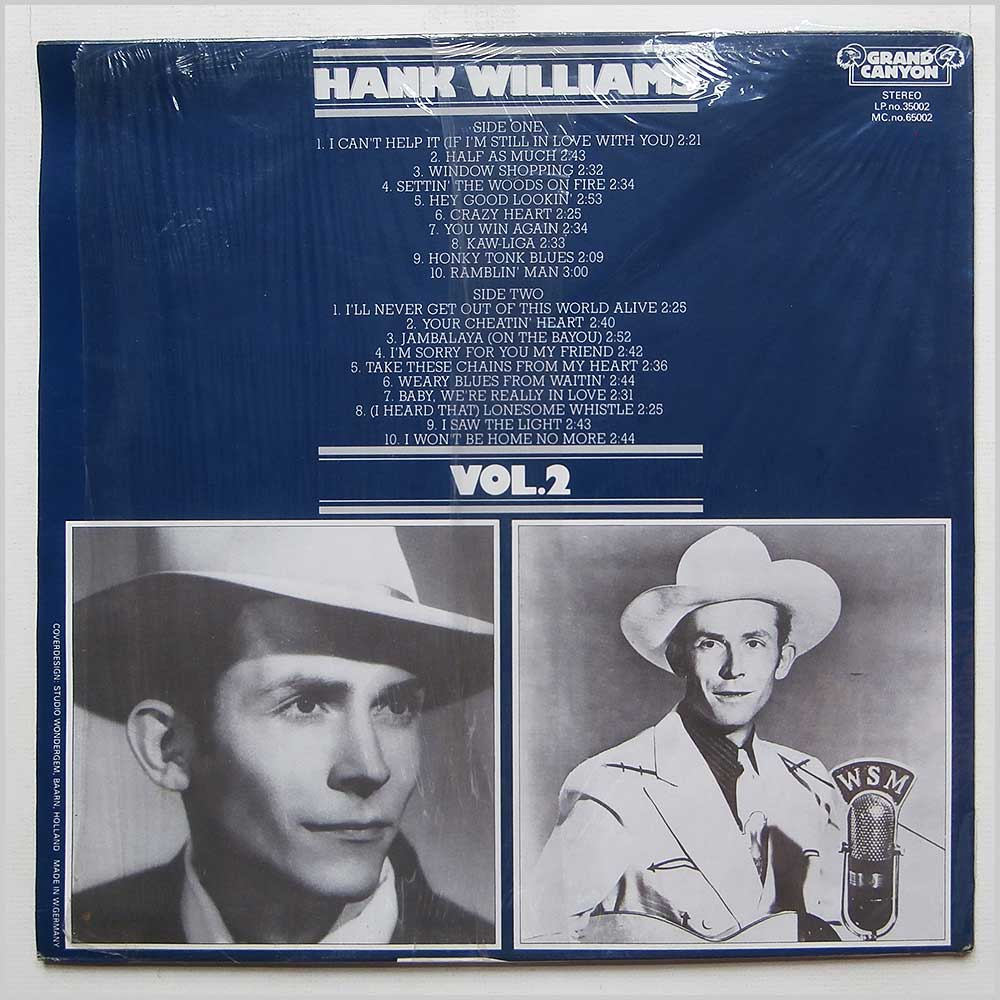 Hank Williams - 20 Greatest Hits Vol. 2 (35002)