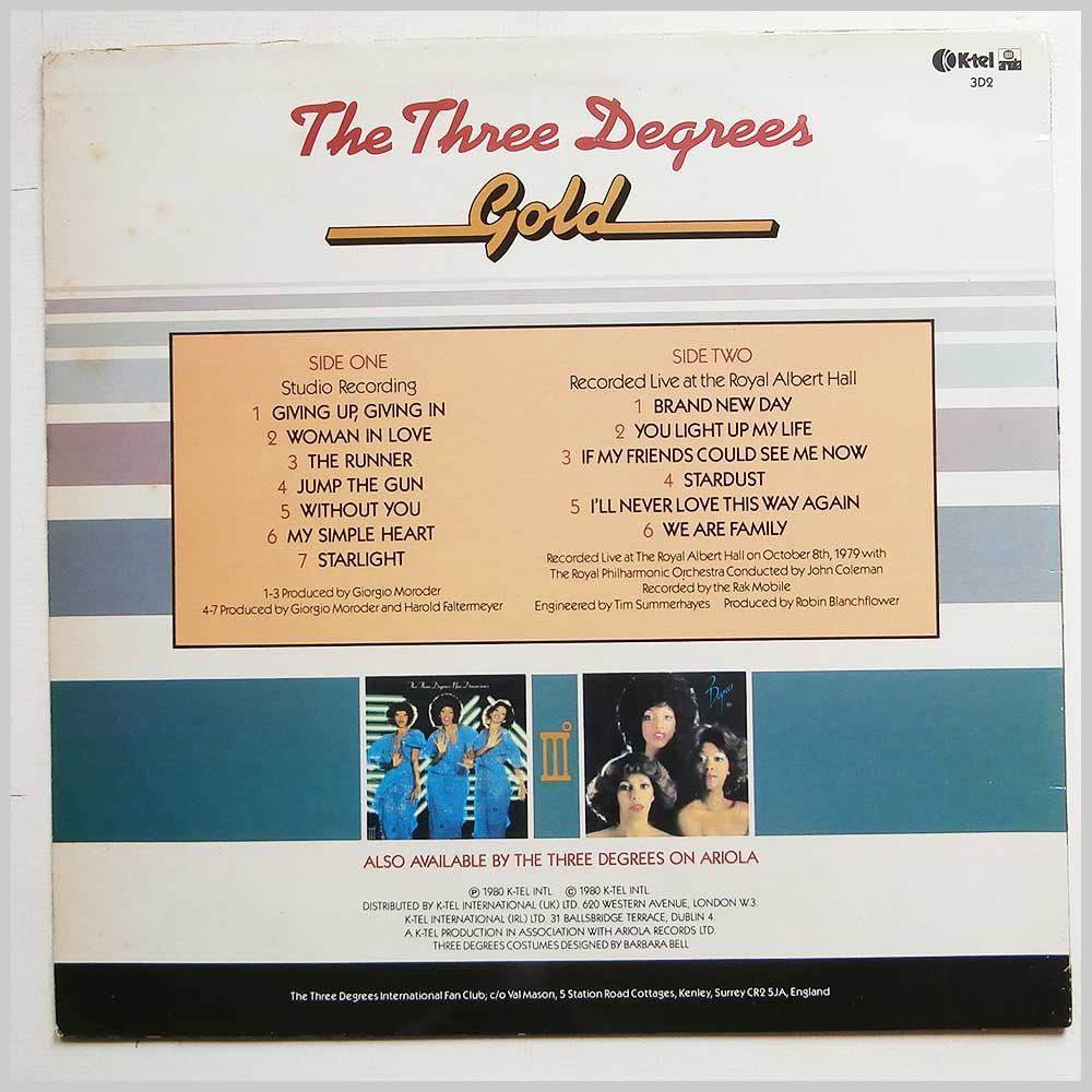 The Three Degrees - Gold (3D2)