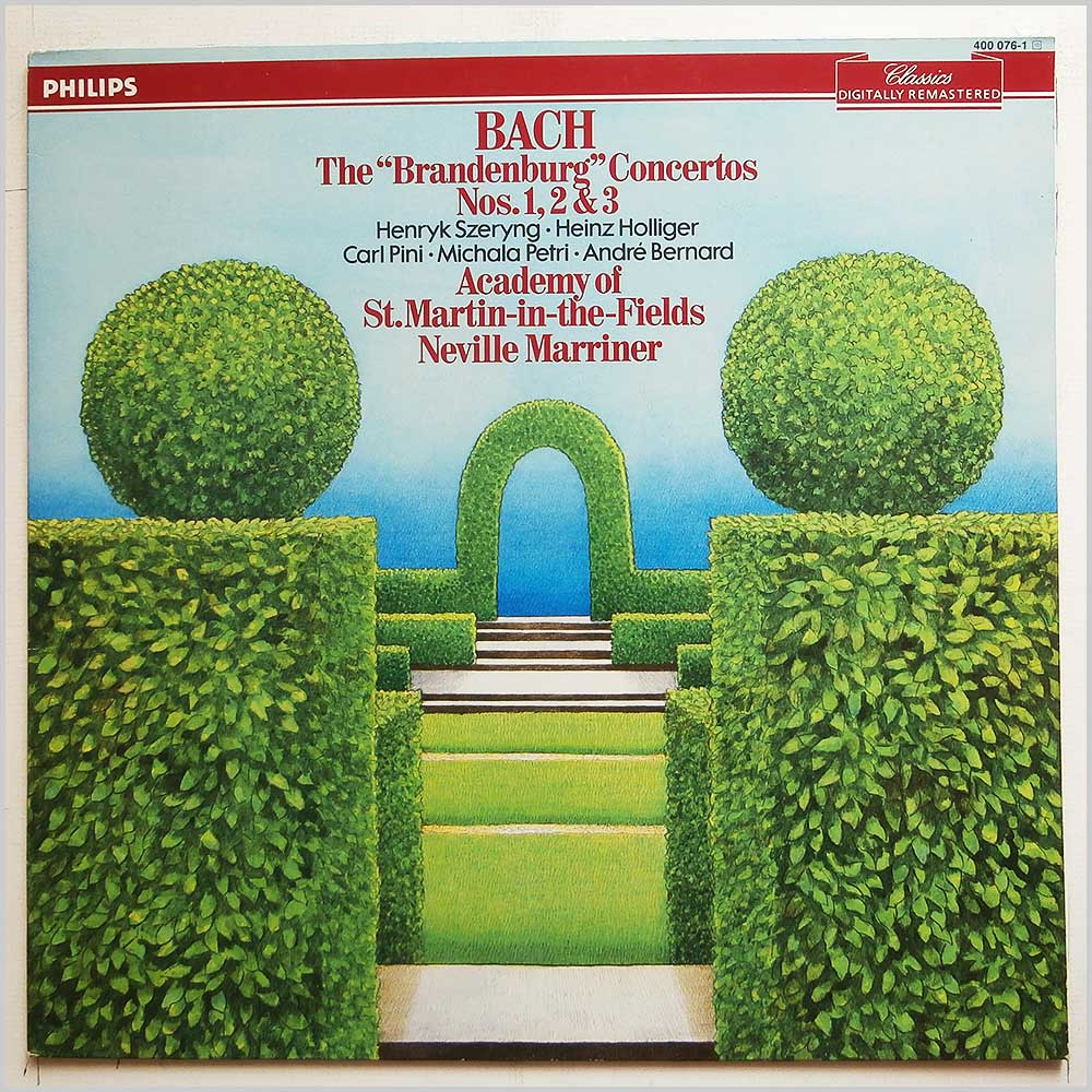 Neville Mariner, St.Martin-In-The-Fields - Bach: The Brandenberg Concertos Nos. 1, 2 and 3 (400 076-1)