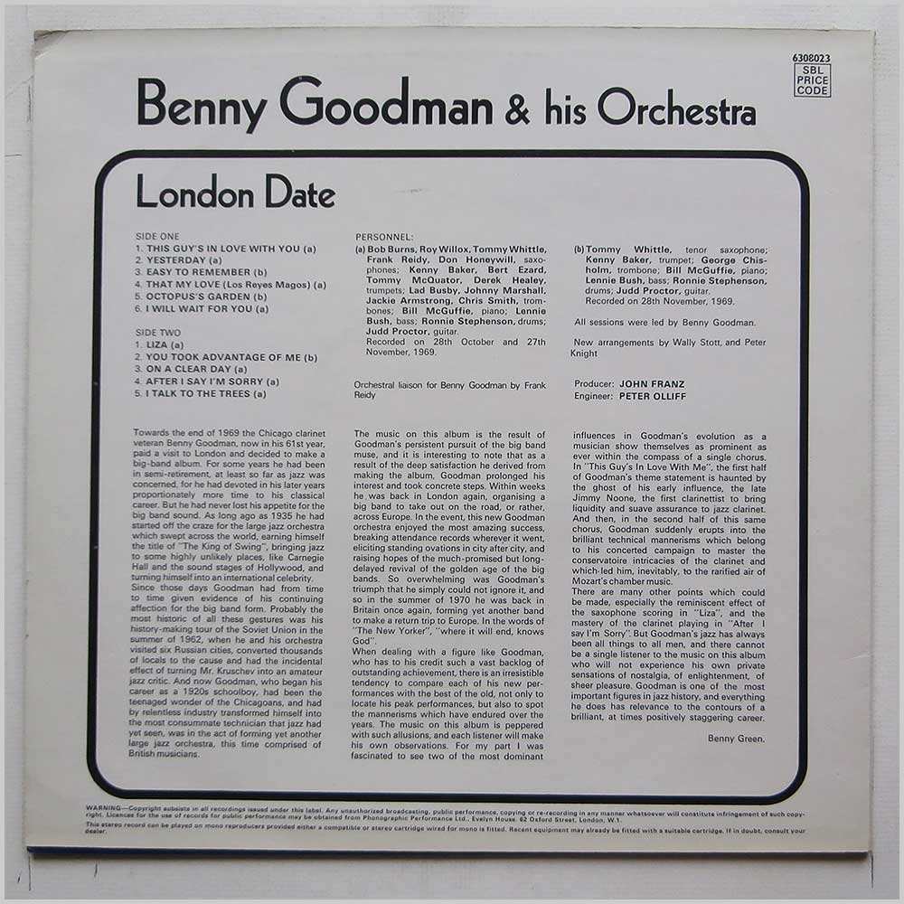 Benny Goodman and His Orchestra - London Date (6308023)