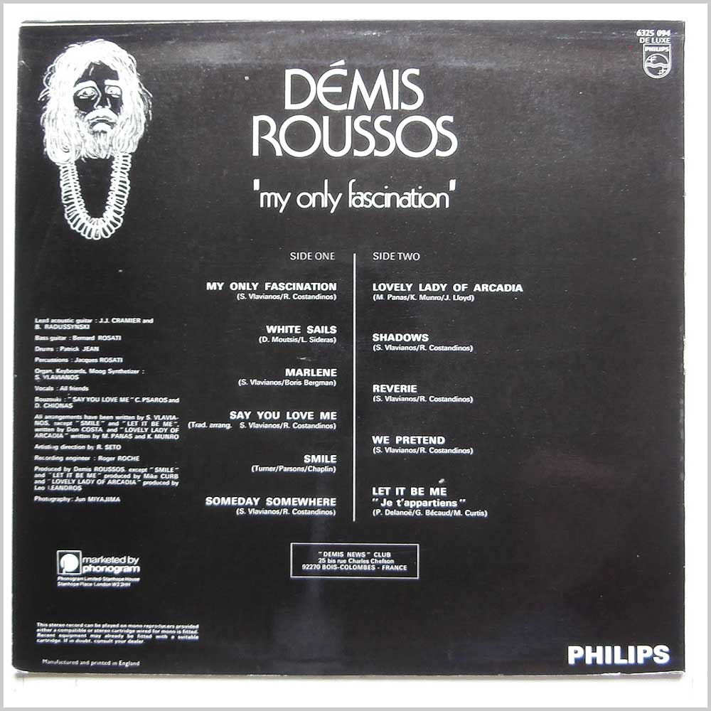 Demis Roussos - My Only Fascination (6325 094)