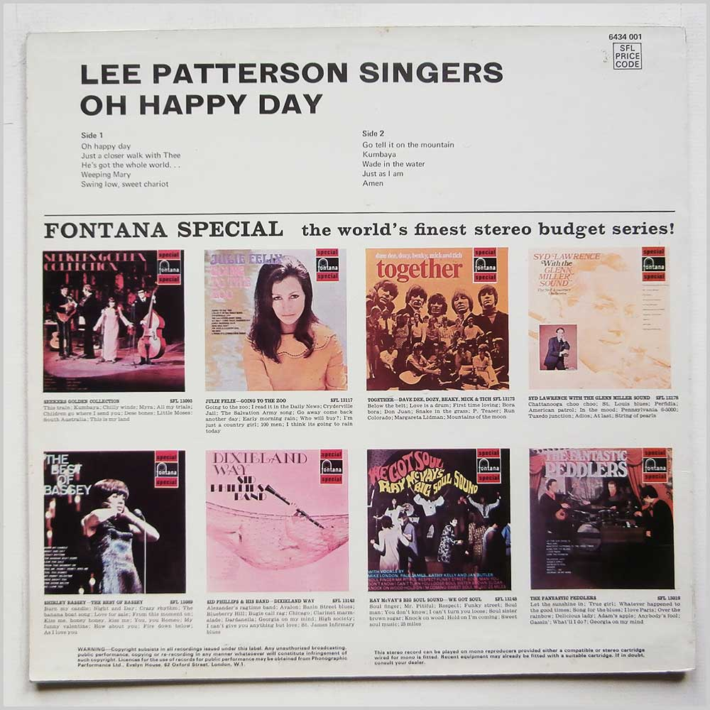Lee Paterson Singers - Oh Happy Day (6434 001)