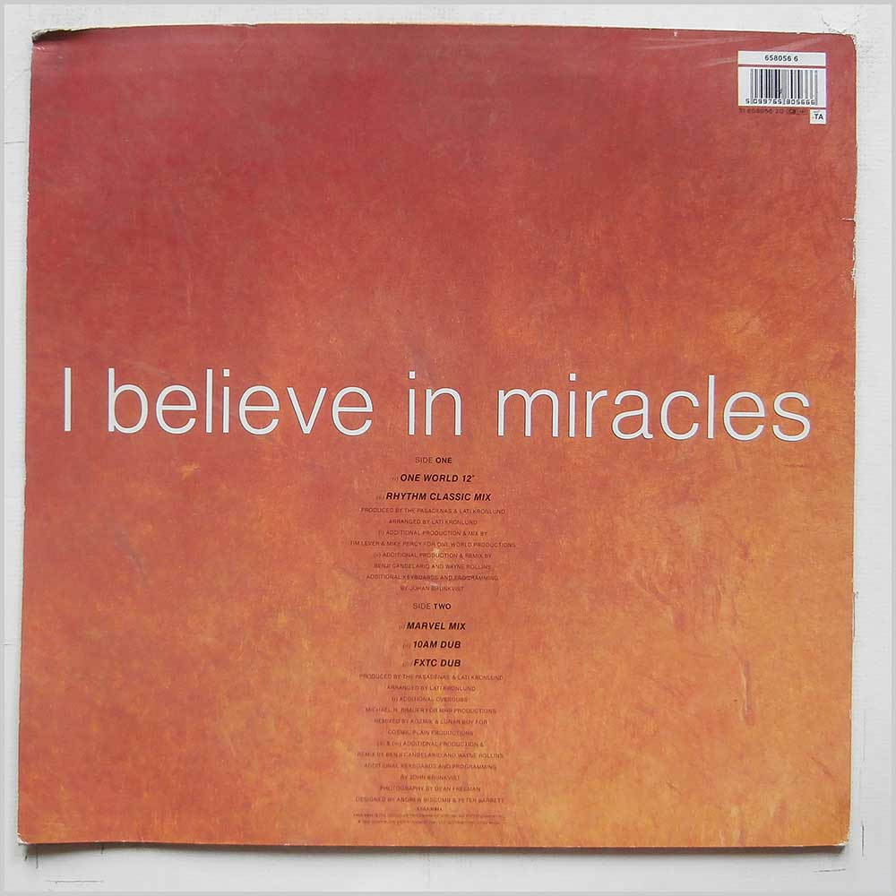 The Pasadenas - I Believe In Miracles (658056 6)