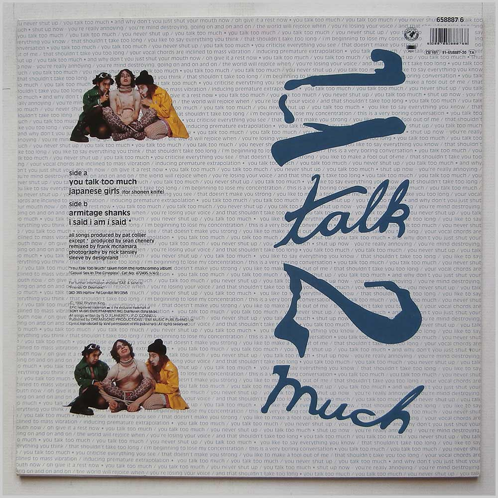 Sultans Of Ping F.C. - U Talk 2 Much (658887 6)