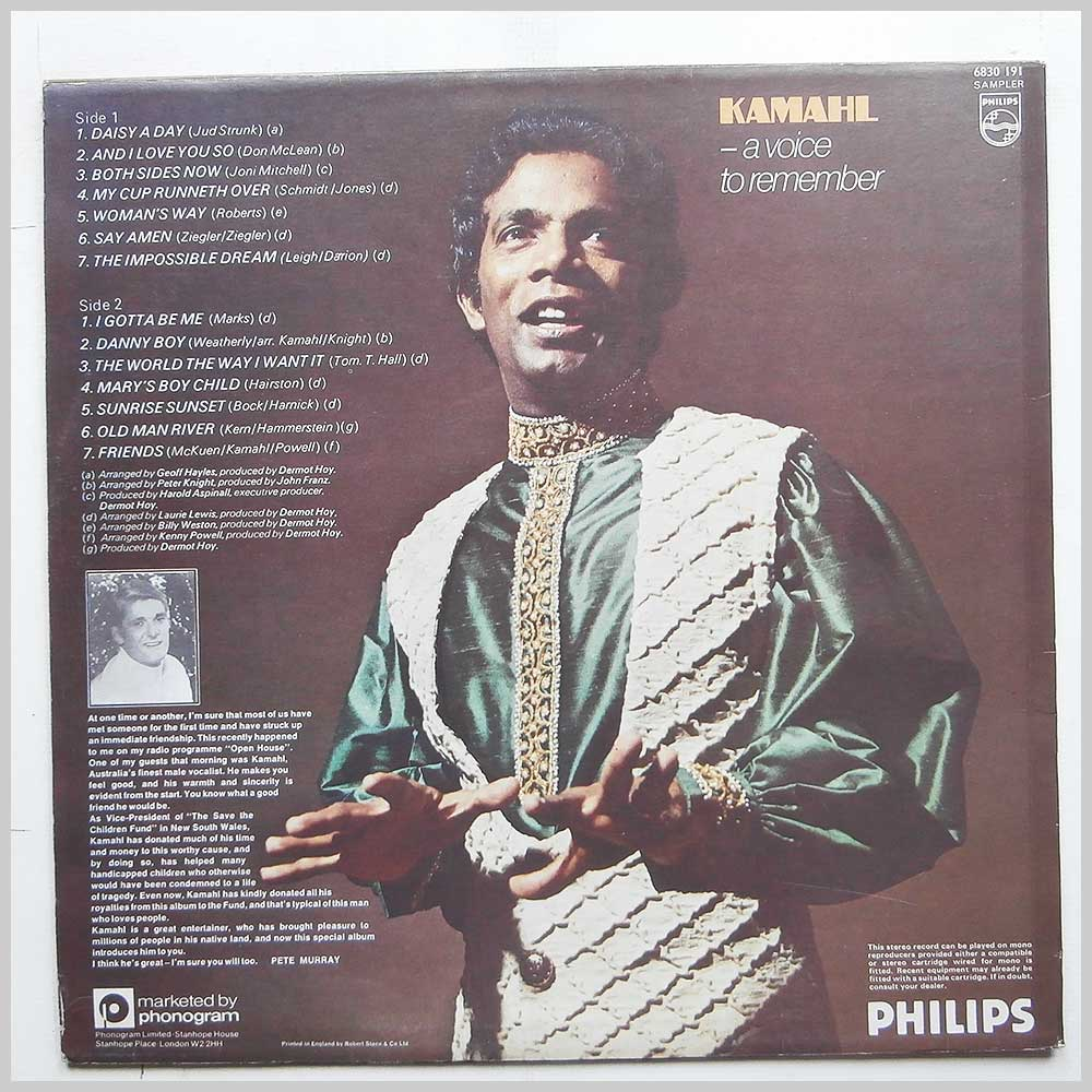 Kamahl - A Voice To Remember (6830 191)