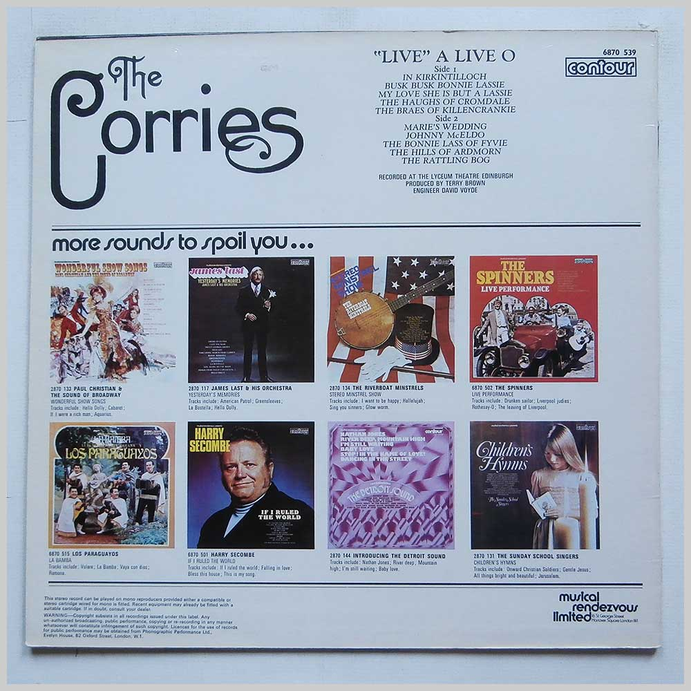 The Corries - Live A Love O (6870 539)