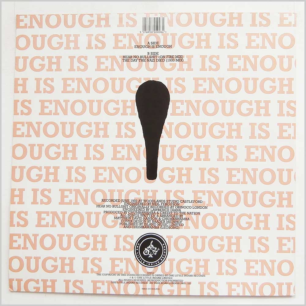 Chumbawamba And Credit To The Nation - Enough Is Enough (79TP12)