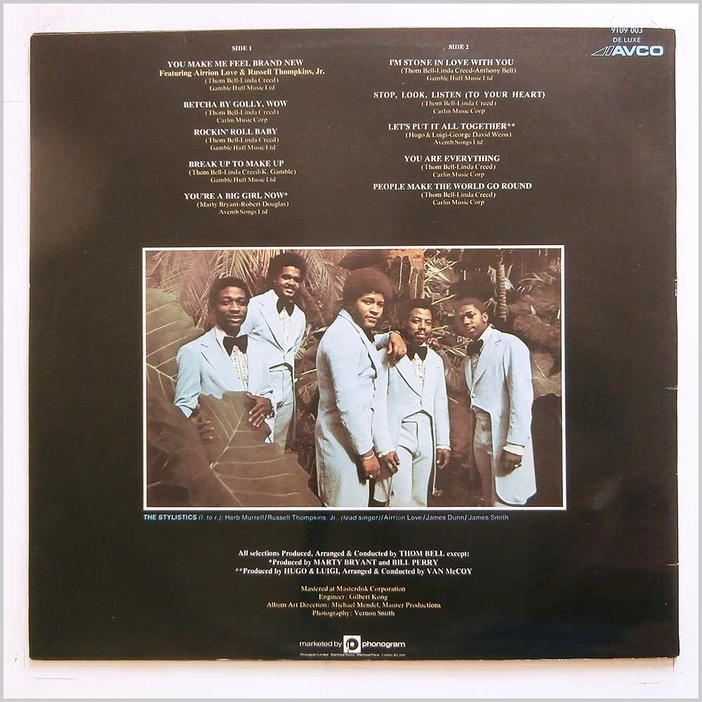 The Stylistics - The Best Of The Stylistics (9109 003)