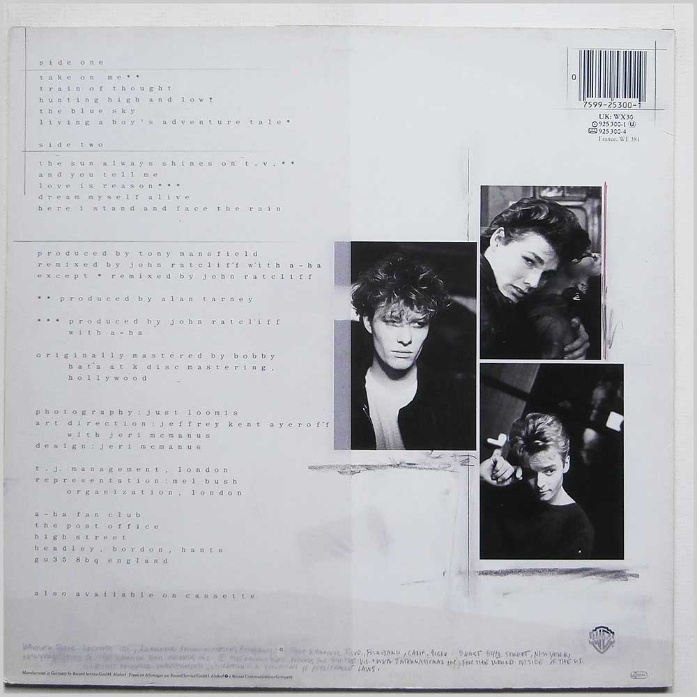 A-Ha - Hunting High And Low (925 300-1)