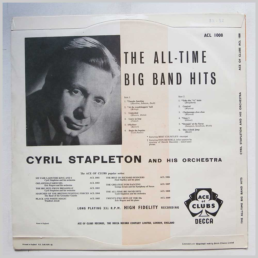 Cyril Stapleton and His Orchestra - The All-Time Big Band Hits (ACL 1008)