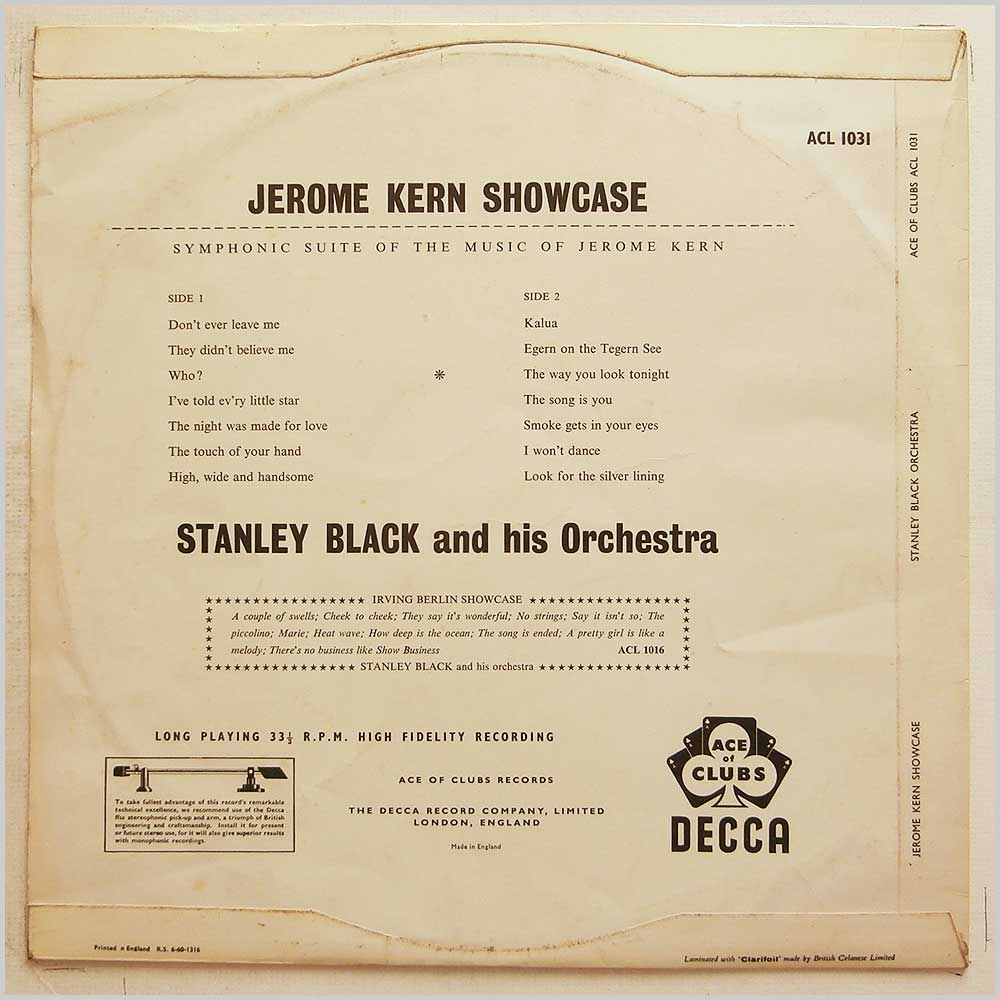 Stanley Black and His Orchestra - Jerome Kern Showcase (ACL 1031)