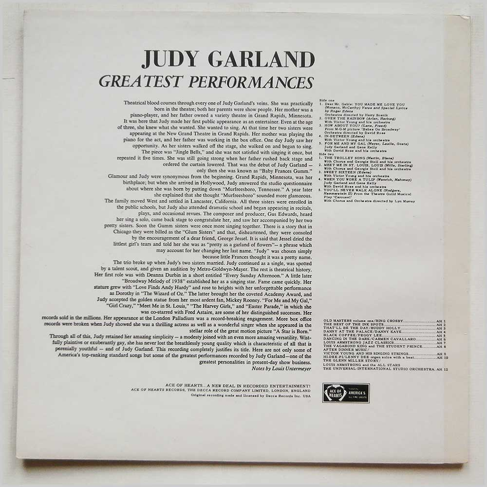 Judy Garland - Greatest Performances (AH 11)