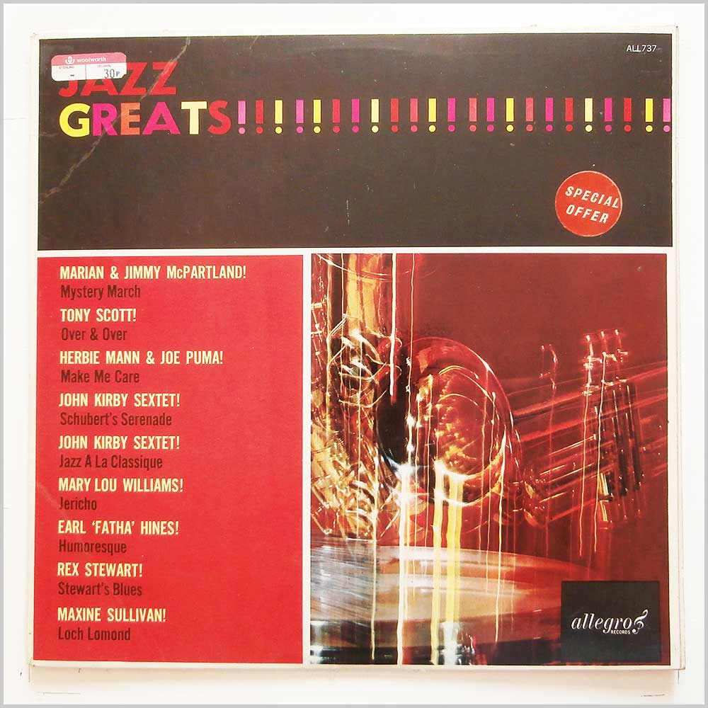 Various - Jazz Greats (ALL 737)