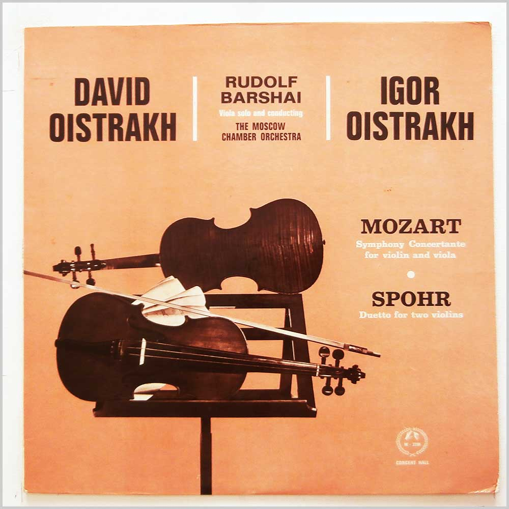 David Ositrakh, Rudolf Barshai and The Moscow Chamber Orchestra - Mozart: Symphony Concertante For Violin and Viola, Spohr: Duetto for Two Violins (AM 2291)