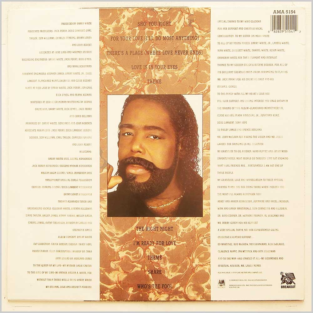 Barry White - The Right Night and Barry White (AMA 5154)