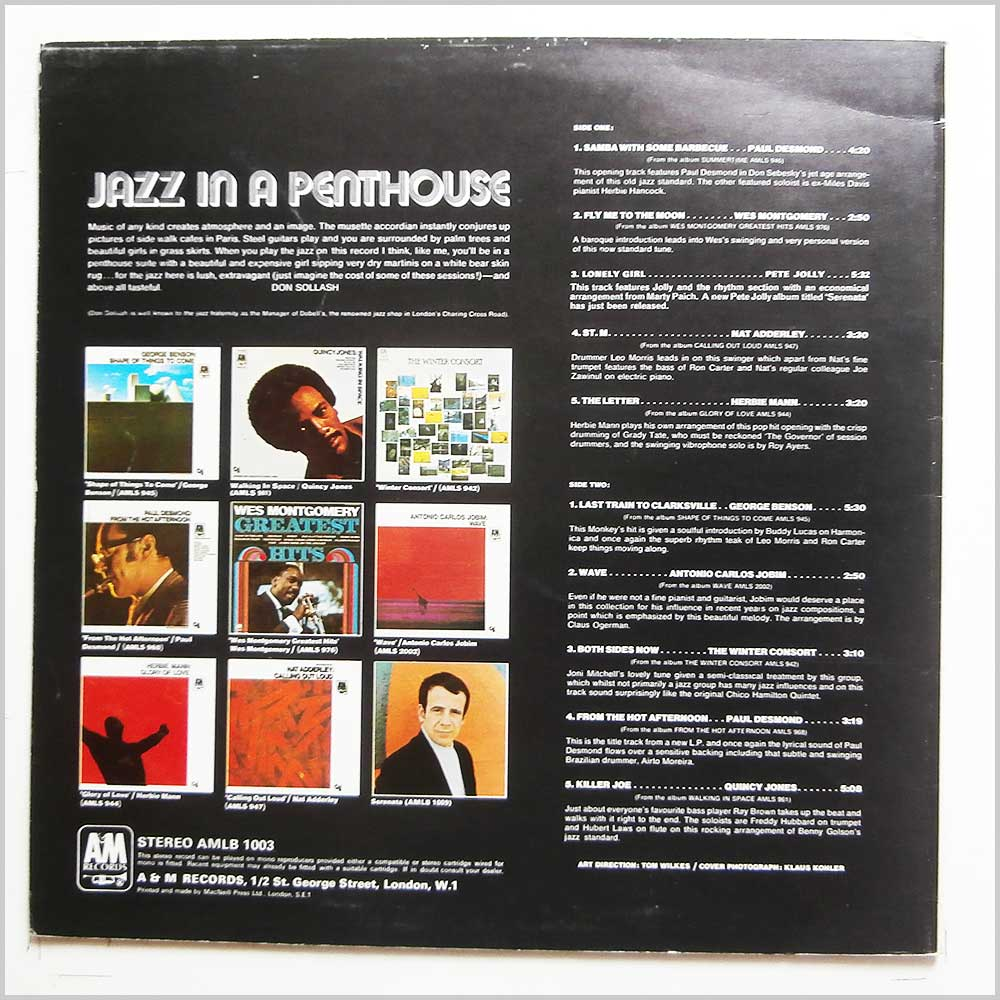 Various - Jazz In A Penthouse (AMLB 1003)