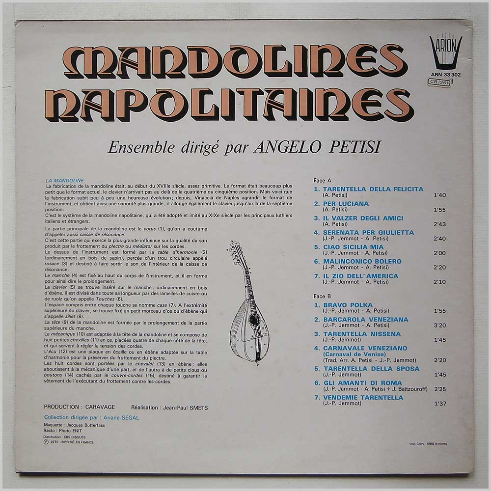 Angelo Petisi - Mandolines Napolitaines (ARN 33 302)