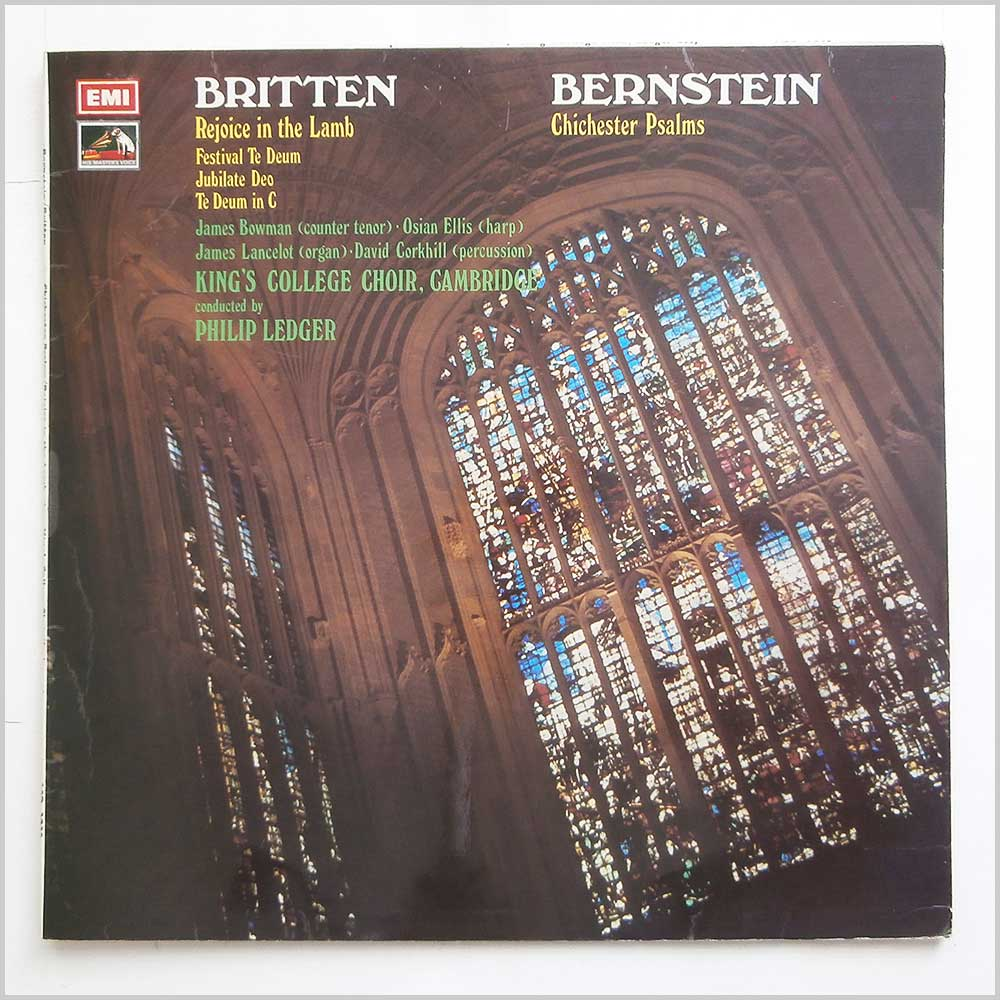 Kings College Choir Cambridge - Britten: Rejoice In The Lamb, Bernstein: Chichester Psalms (ASD 3035)