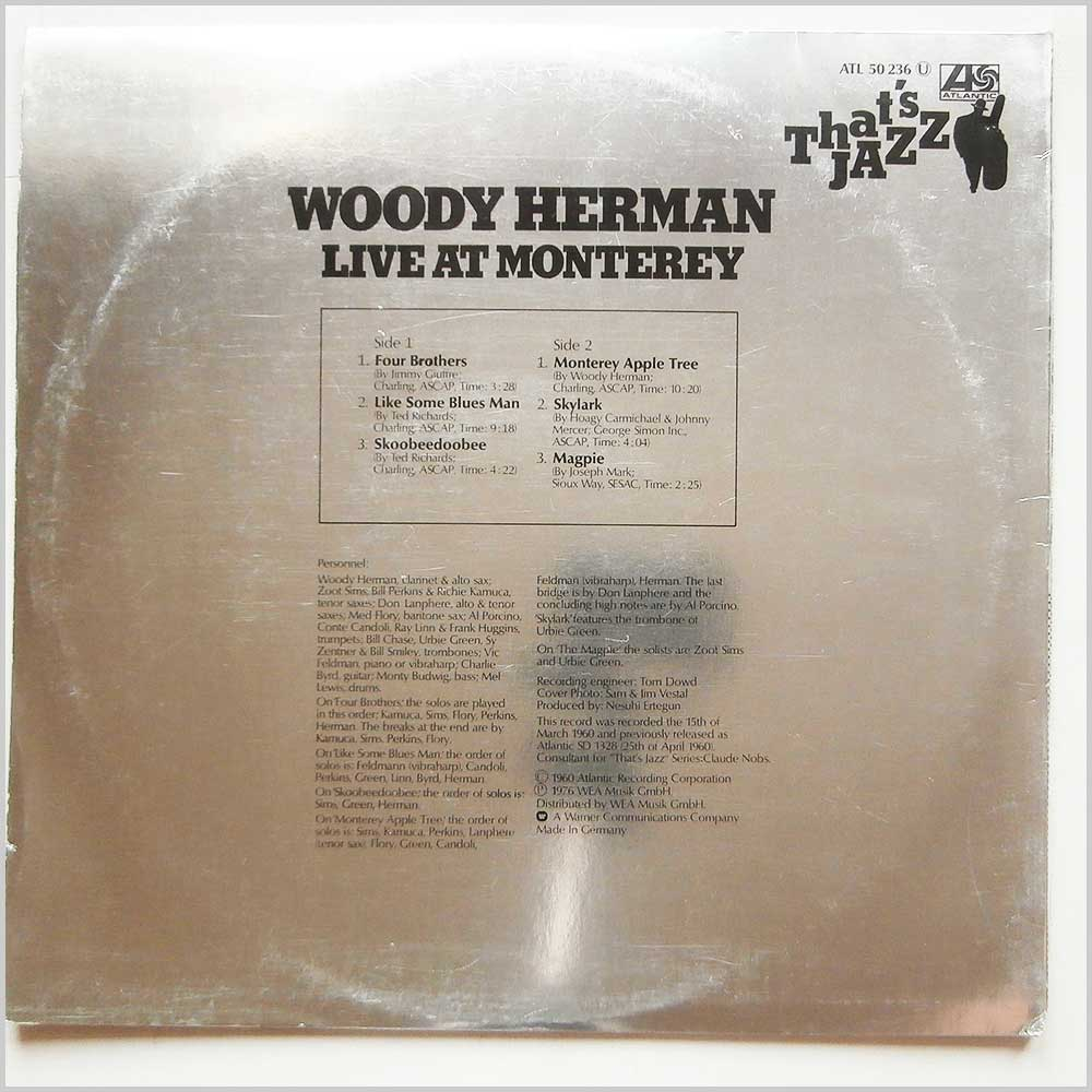 Woody Herman - That's Jazz: Live At Monterey (ATL 50 236)