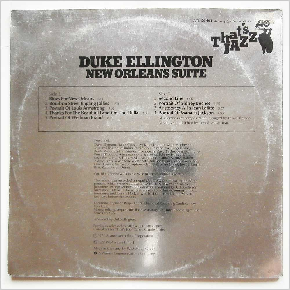 Duke Ellington - That's Jazz: New Orleans Suite (ATL 50 403)