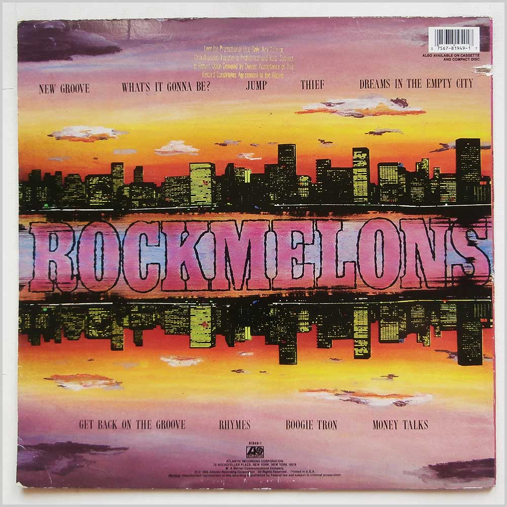 Rockmelons - Tales Of The City (ATLANTIC 81949-1)