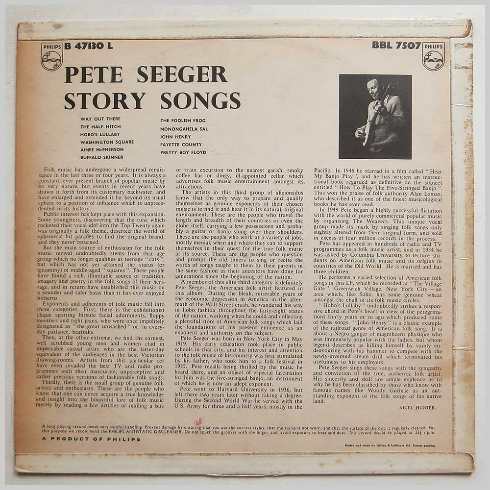 Pete Seeger - Story Songs (B 47130 L)