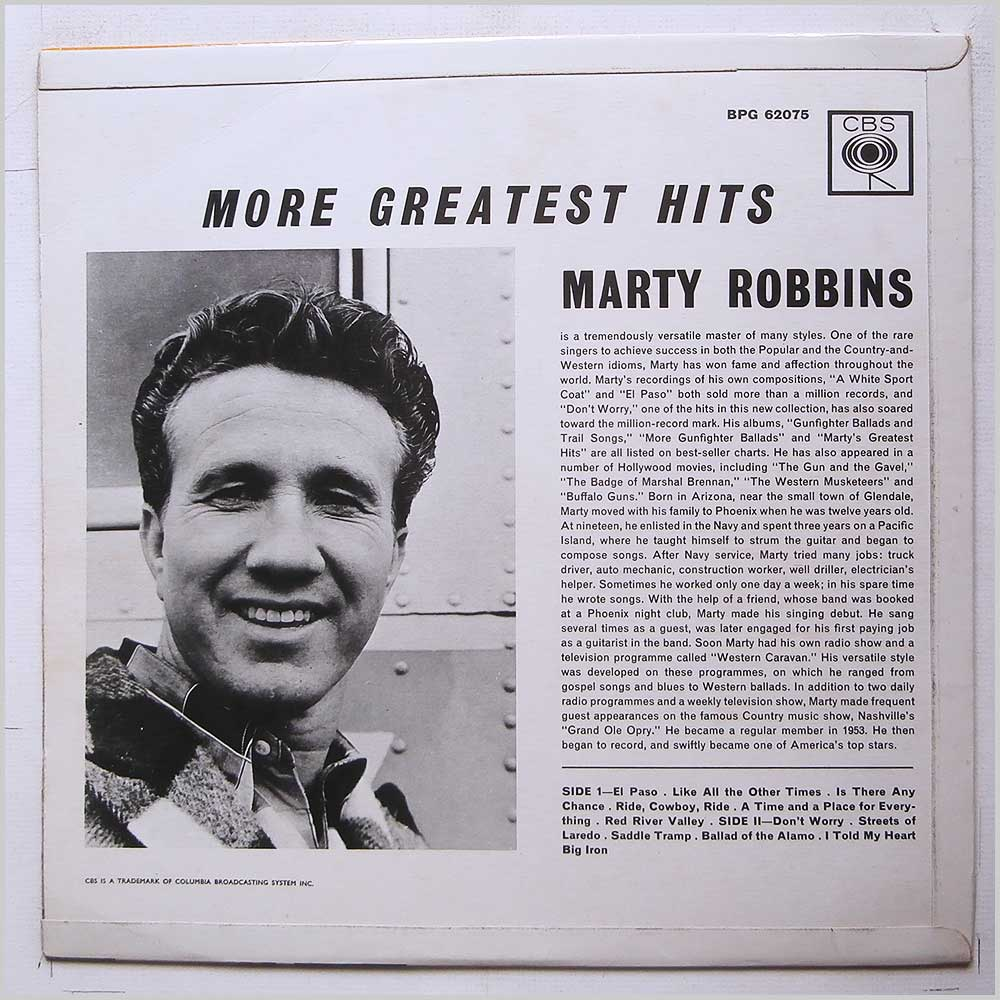 Marty Robbins - More Great Hits (BPG 62075)