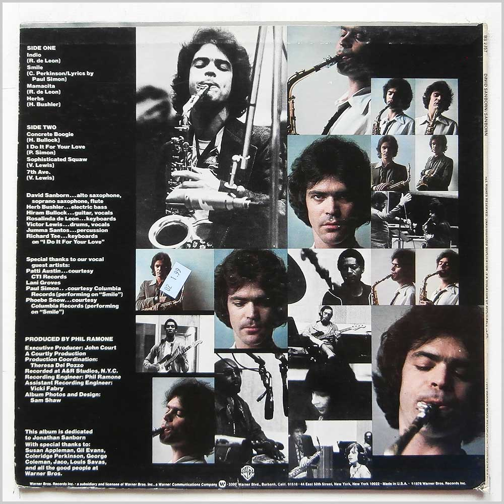 David Sanborn - Sanborn (BS 2957)