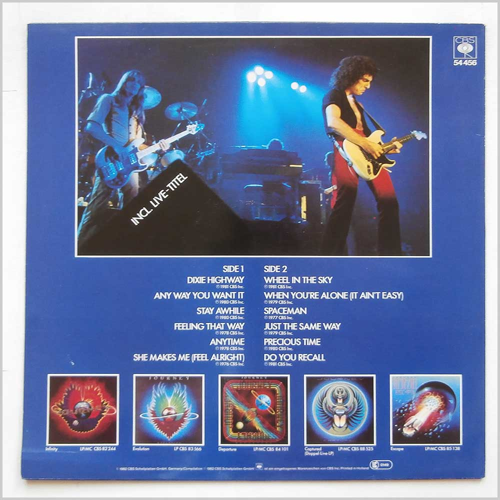Journey - The Best Of Journey: Look Behind (BS 54 456)