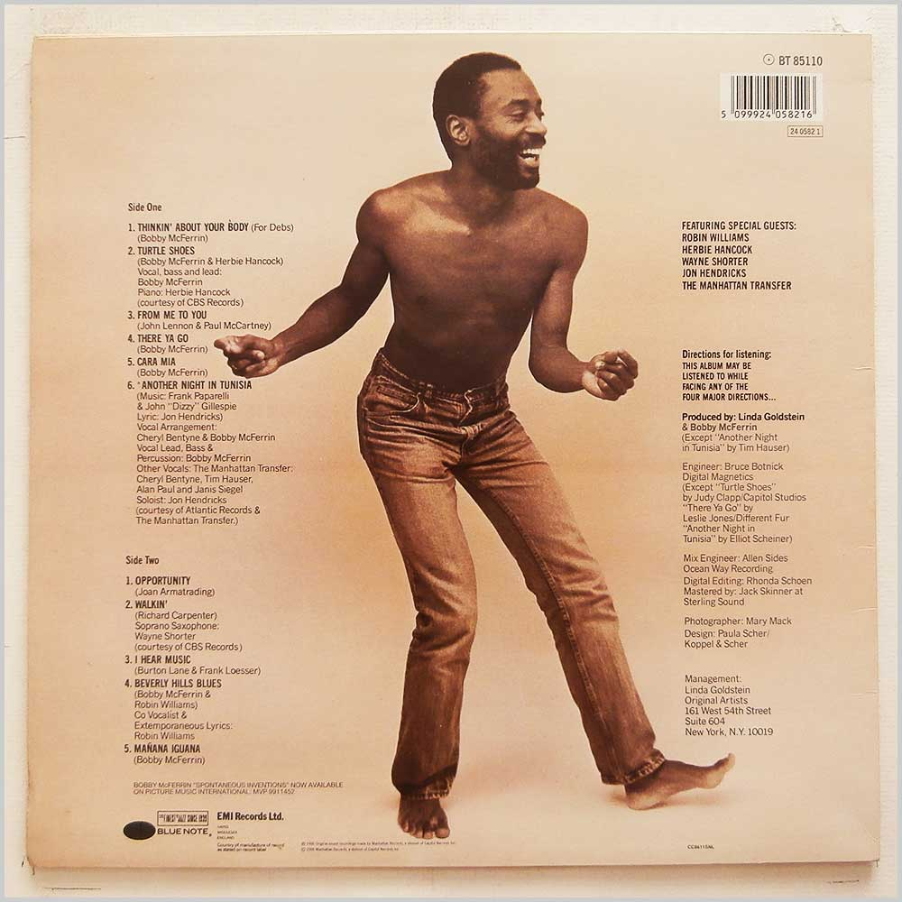 Bobby McFerrin - Spontaneous Inventions (BT 85110)