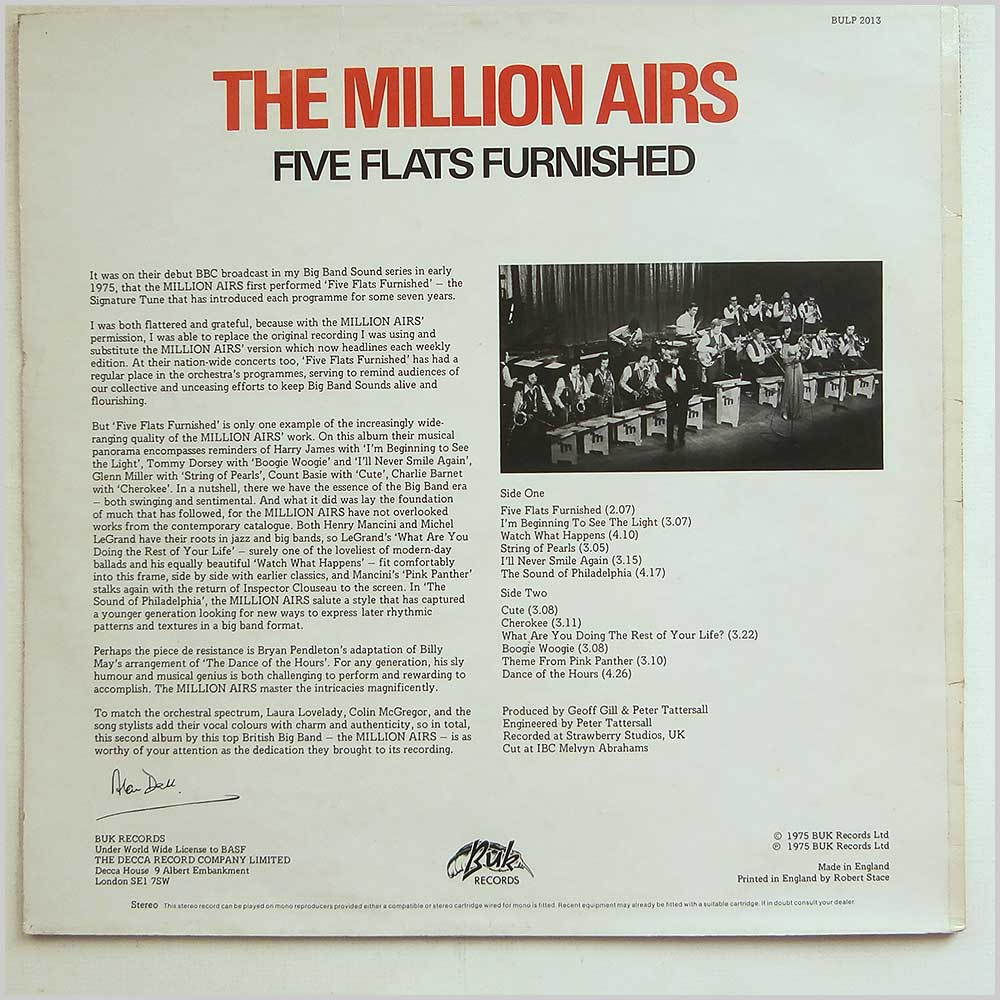 Million Airs - Five Flats Furnished For Sale (BULP 2013)