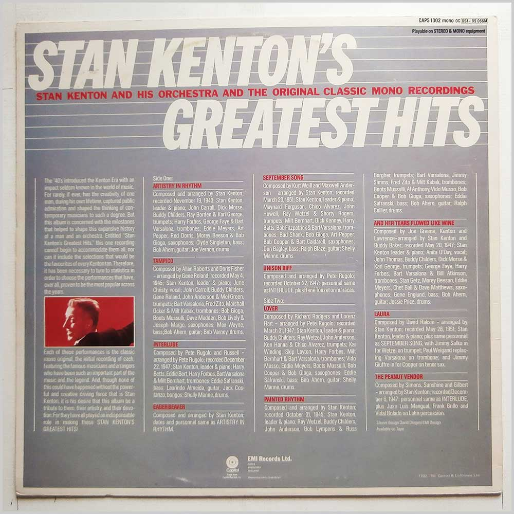 Stan Kenton - Stan Kenton's Greatest Hits (CAPS 1002)