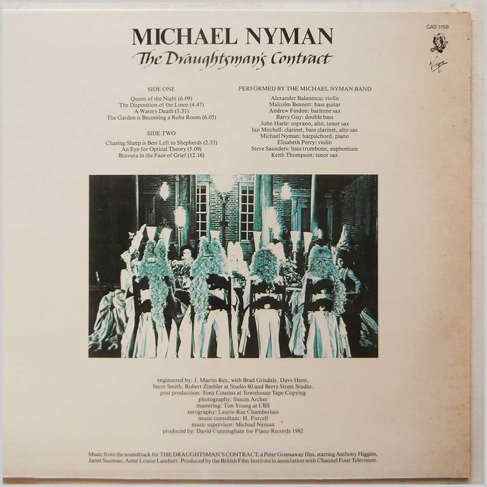 Michael Nyman - The Draughtmans Contract (CAS 1158)