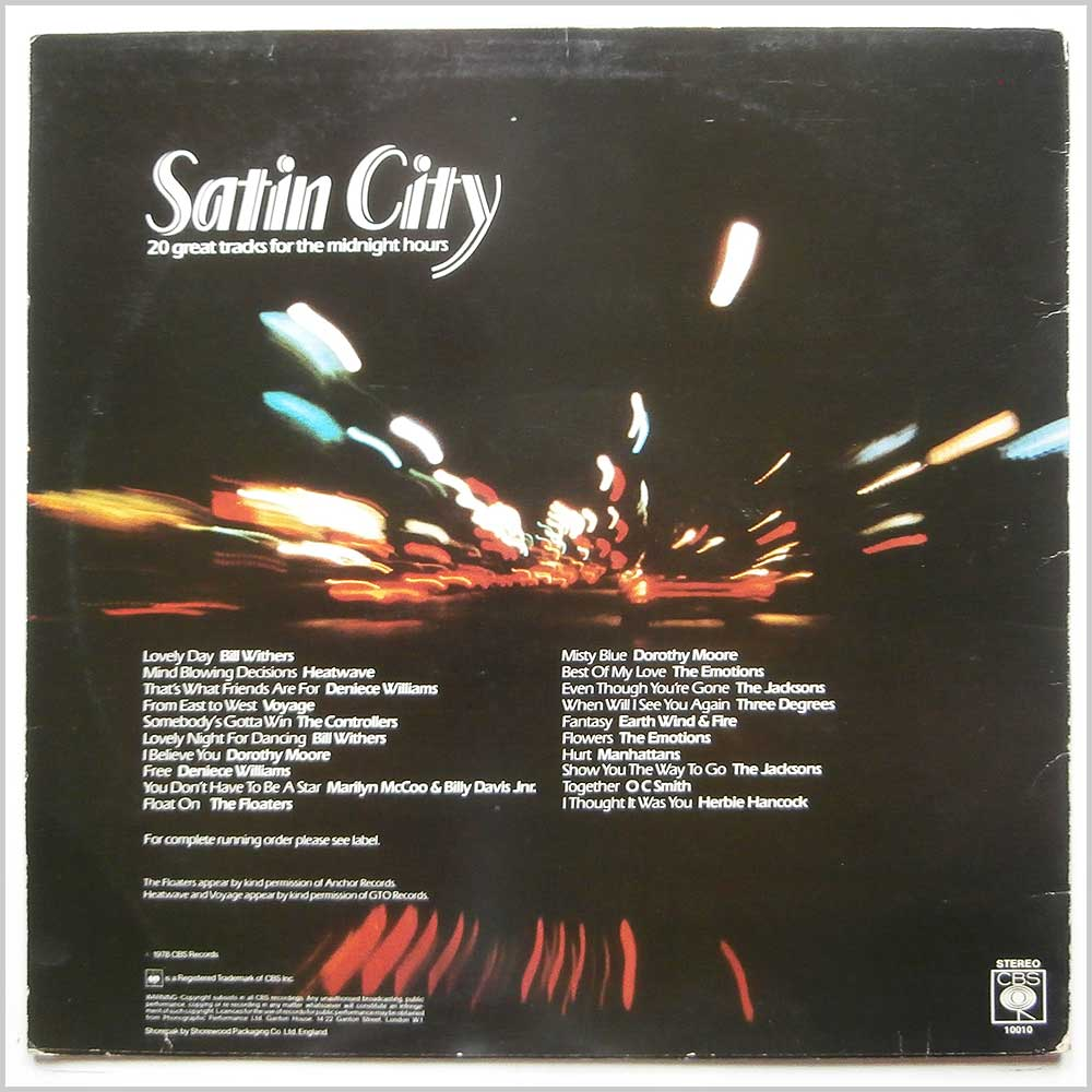 Various - Satin City (CBS 10010)