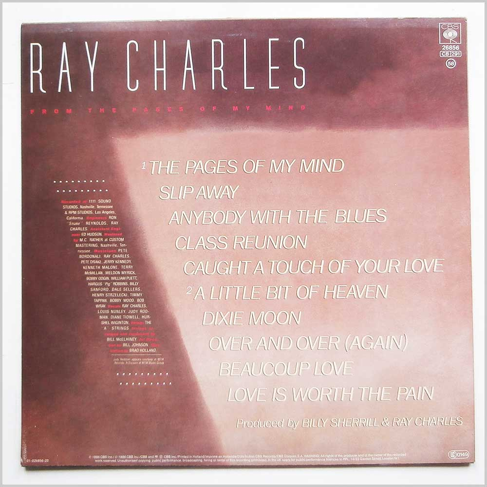 Ray Charles - From The Pages Of My Mind (CBS 26856)
