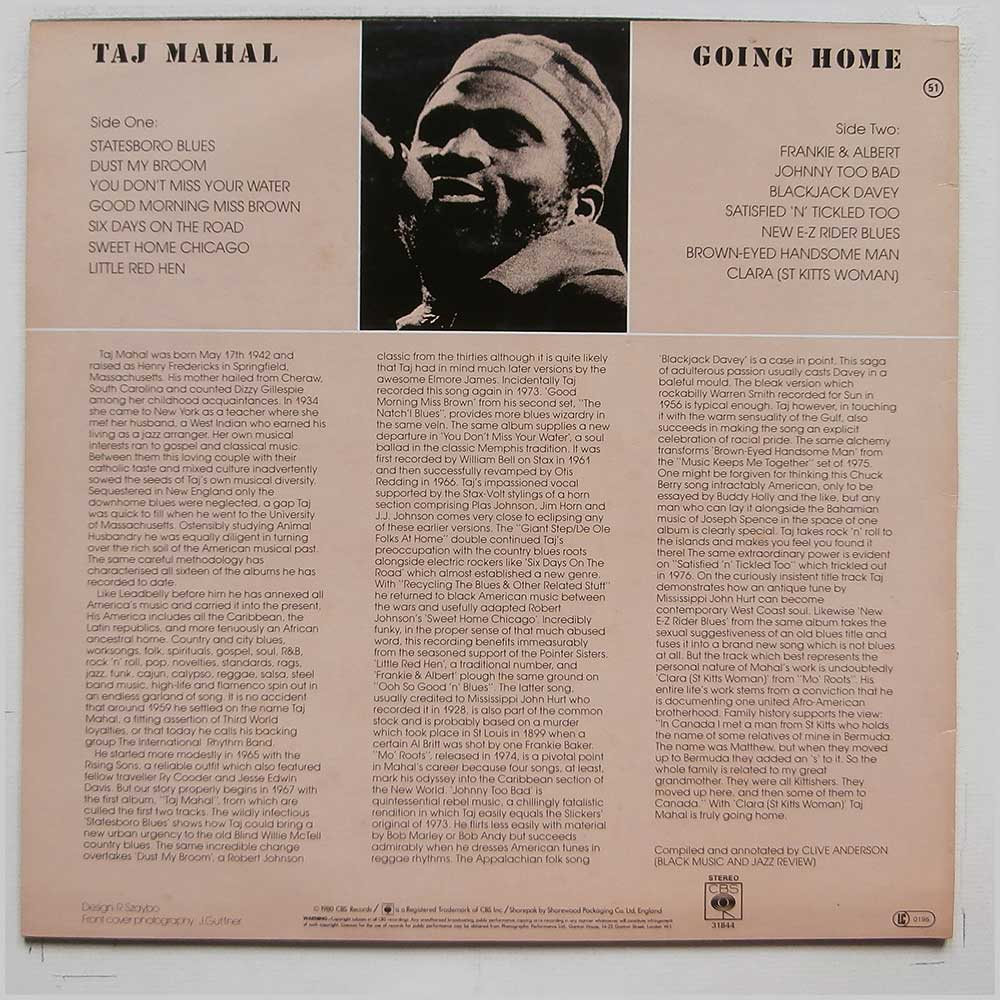Taj Mahal - Going Home (CBS 31844)