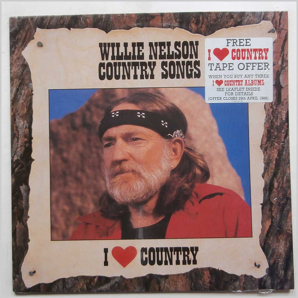 Willie Nelson - I Love Country: Country Songs (CBS 451008 1)