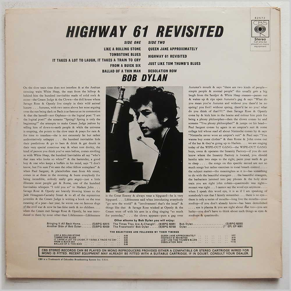 Bob Dylan - Highway 61 Revisited (CBS 62572)