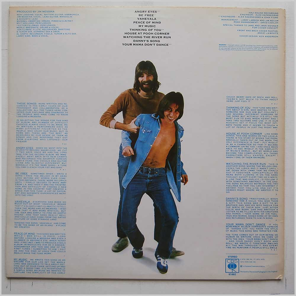 Loggins and Messina - The Best Of Friends (CBS 81692)